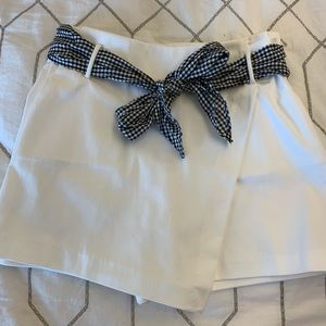 Zara white skort with tie